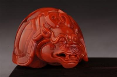 南红玫瑰红柿子红龙龟欣赏