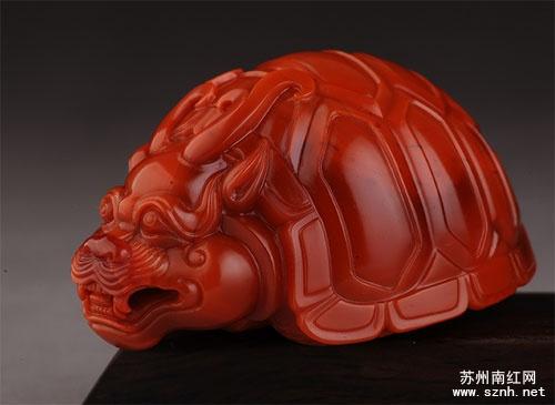 南红玛瑙龟类题材作品寓意
