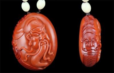 南红玛瑙关公雕件欣赏