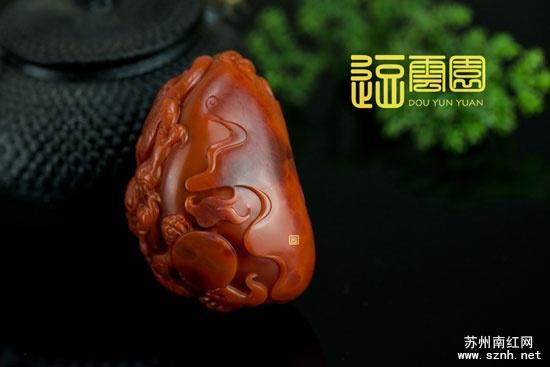 南红玉石雕刻精品挂件欣赏