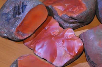 九口南红玛瑙原石图片欣赏