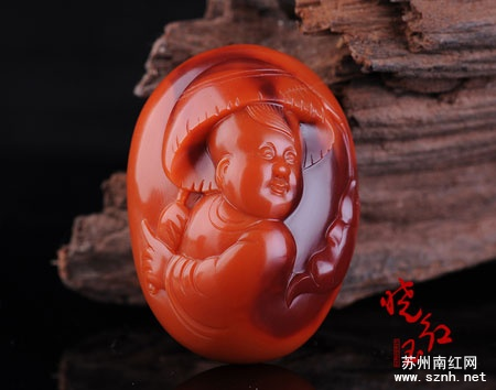 南红玉石雕刻图片鱼趣欣赏