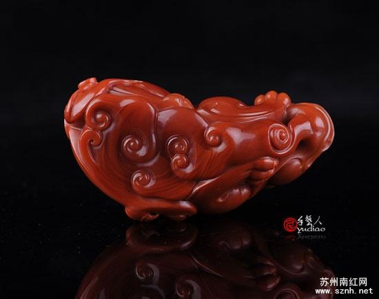 南红玉石雕刻貔貅欣赏