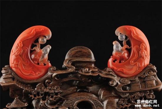 南红玛瑙雕刻技术之镂空雕