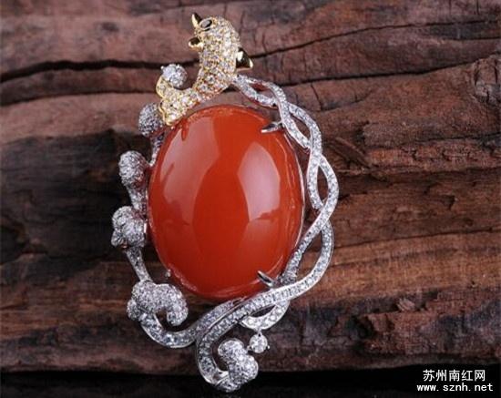 精品南红玛瑙镶嵌饰品为什么这么贵?